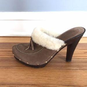 Michael Kors platform Mules- never worn!